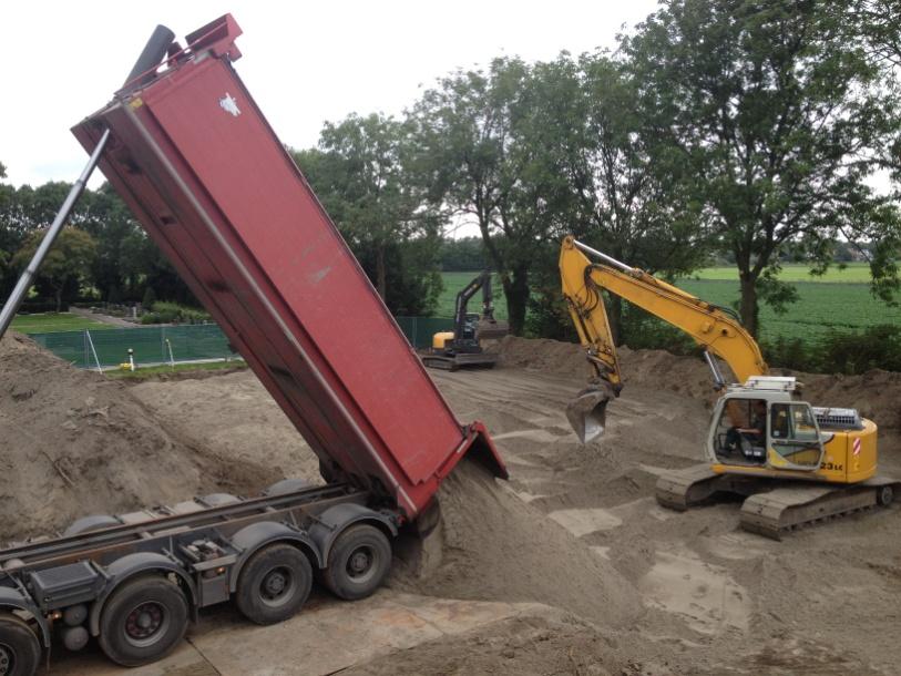 Bras fijnaart druk bezig met de uitbreiding van de algemene begraafplaats in zuid beijerland - Bureau van de uitbreiding ...